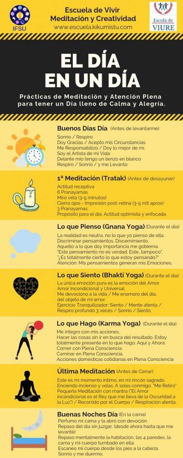 infografia escuela de vivir - meditación y creatividad - imaginari kiku mistu