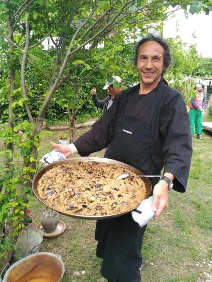 retiro de meditación, cocina vegana exquisita