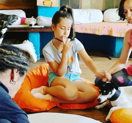retiro de meditación con niños