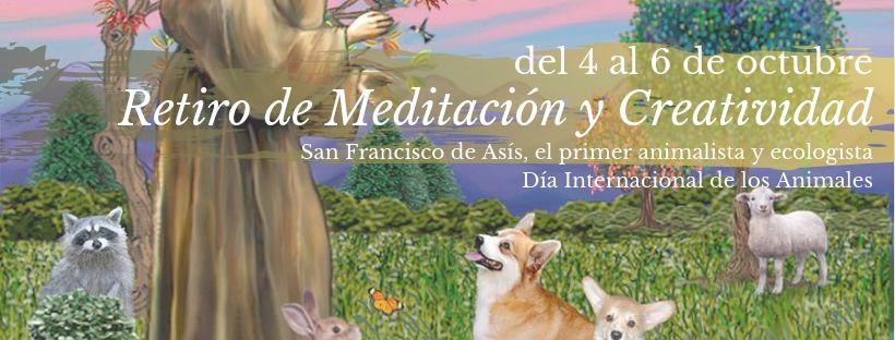 retiro de meditación y animales