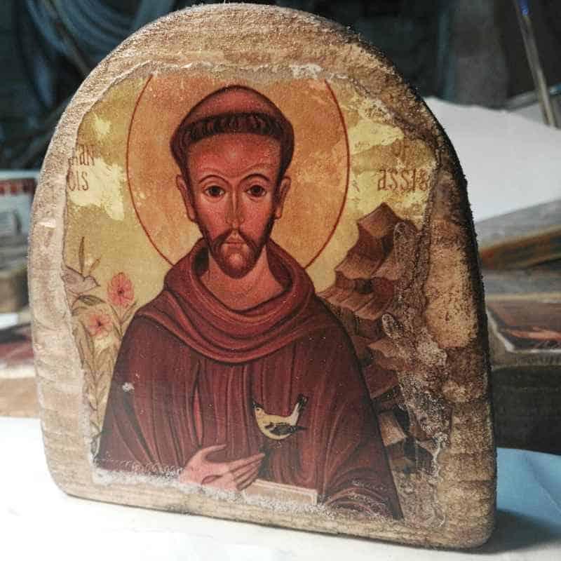 icono de san francisco de asis