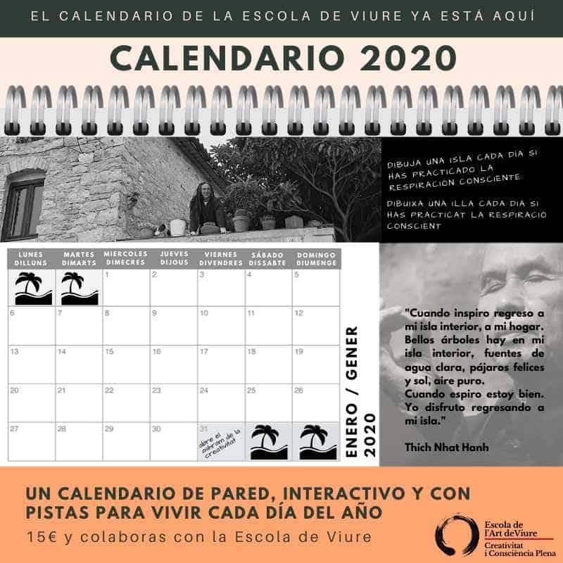 calendario con pistas para vivir cada día