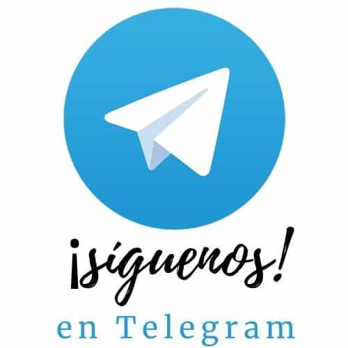 Síguenos en nuestro canal de noticias de Telegram
